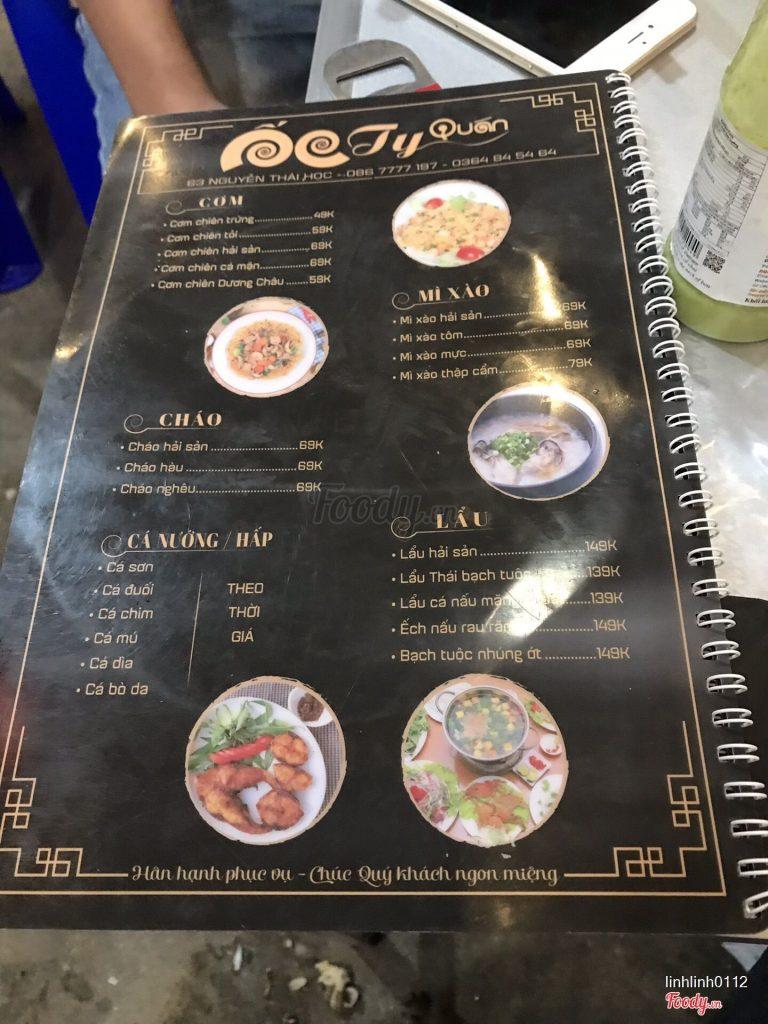 Ốc Ty 63 Nguyễn Thái Học
